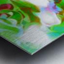 Green Glass Window - multicolor green abstract swirl wall art Metal print