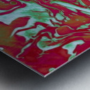 Fire and Ice - turquoise red gradient abstract swirl wall art Metal print