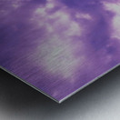 Purple skies Metal print