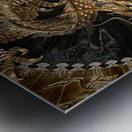 fantasy Dragon Pentagram Metal print