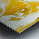 Abundant Aura - white gold swirls abstract wall art Metal print