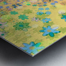 flowers color colorful watercolour Metal print