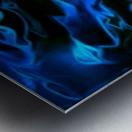 True Lightning - blue white black swirls abstract wall art Metal print