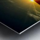 Glinting horizon Metal print