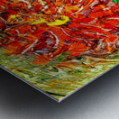 orange flower energy abstraction Metal print
