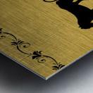 Gold illustration for interior decoration 2 Metal print