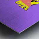Laughing Galah - Purple Metal print