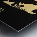 map world 2 Metal print
