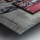 en_noir_et rouge Metal print
