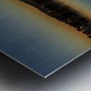 Dock at sunset Metal print