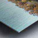 Pole Barn in Fall Metal print