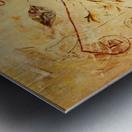copper threads Metal print