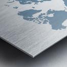 GREY WORLD MAP Metal print