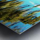 Blue Sky Green Leaves Metal print