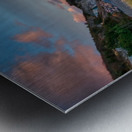 Sunset Relief Metal print