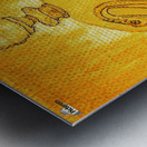 Bottled Gold Swan Metal print