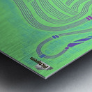 RARIN' TO GO--Blue on Green Metal print