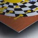 Chess-3-bounce Metal print