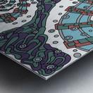 Wandering Abstract Line Art 02: Blue Metal print