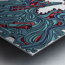 Wandering Abstract Line Art 05: Blue Metal print