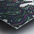 Wandering Abstract Line Art 05: Green Metal print