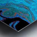 Blue Wildflower in Light Metal print