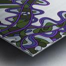 Wandering Abstract Line Art 07: Purple Metal print