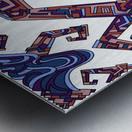 Wandering Abstract Line Art 08: Purple Metal print