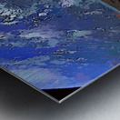 StarMan in Tesla Above Planet Earth Metal print