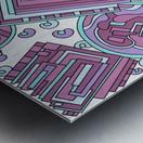 Wandering Abstract Line Art 15: Pink Metal print