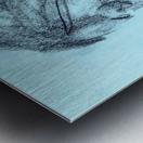 Lite blue Metal print