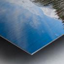Snowy Sunwapta Falls Metal print