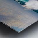 Blue Crash Metal print