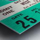 1970_College_Football_Notre Dame vs. Northwestern_Dyche Stadium_Evanston_Row One Brand Metal print