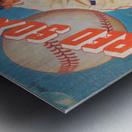 1959_Boston Red Sox_Baseball Yearbook_Poster_Vintage Baseball Art Print Reproductions Metal print