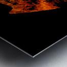 Burning on Fire Letter E Metal print