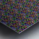 seamlessprismaticgeometricpatternwithbackground Metal print