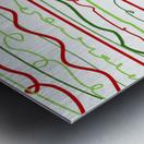 scribble pattern Metal print