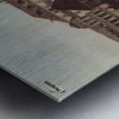 Errichtung der Saulen Metal print