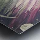 Aurora Borealis Above The Forest Metal print