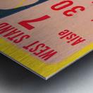 florida state seminoles ticket stub art Metal print