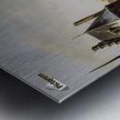 Pompenburg met Hofpoort in de winter Metal print