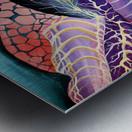 Artdeco Abstract Linear Interlacing Pattern Metal print