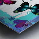 Whimsical Morpho Butterflies in Vivid Colors Metal print