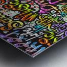 graffiti word seamless pattern Metal print
