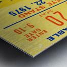 ticket wall art Metal print