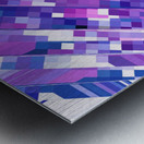 geometric square pixel pattern abstract background in purple pink Metal print