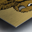 vintage cu colorado buffaloes art Metal print