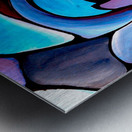 Twisted Splash of Blue Shapes  Metal print