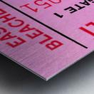 university of georgia college football ticket stub print on wood Metal print